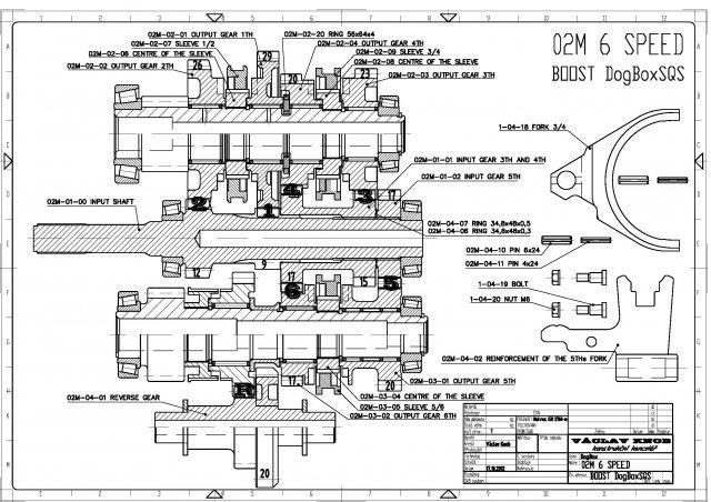 SQS Racing | VW 02M/Q (MQ350) 4°- 6° DOG Box